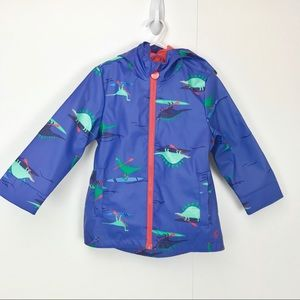 Joules Right As Rain Fleece Lined Raincoat Dinos
